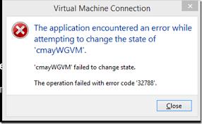 Fix hyper-v error 32788