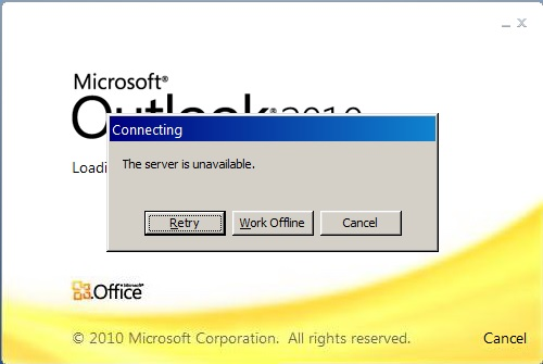 exchange server is not available