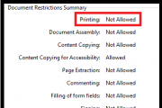 pdf file not able to print