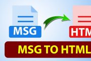 convert Outlook MSG File to HTML