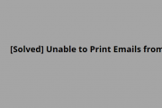 Unable to Print Emails from AOL