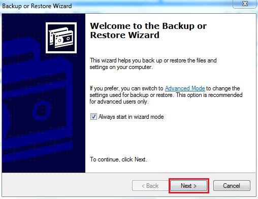 """""""Welcome to Backup or Restore"""""""