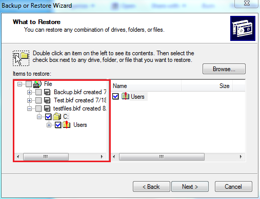 desired file / folder