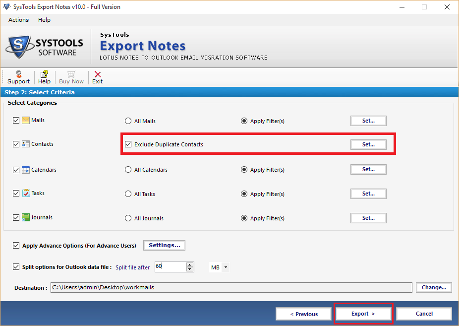 export emails from Lotus Notes to Outlook