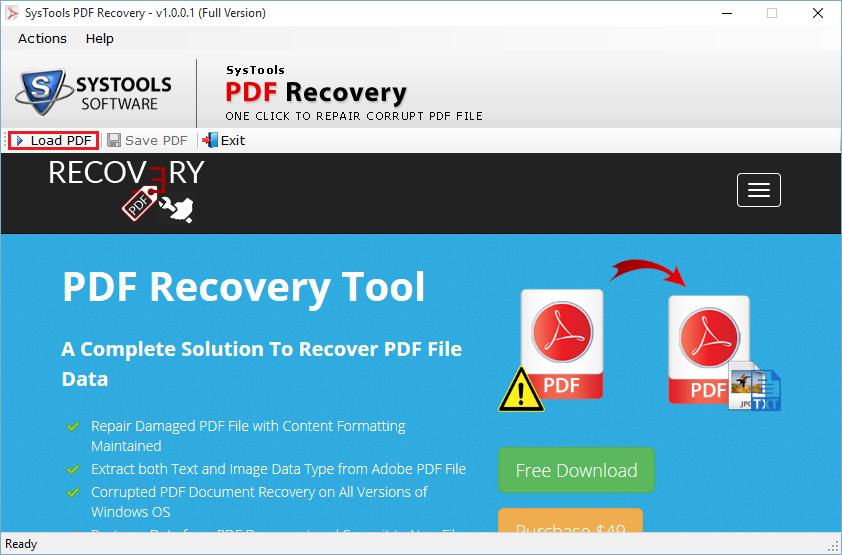 PDF RECOVERY TOOL EPUB DOWNLOAD