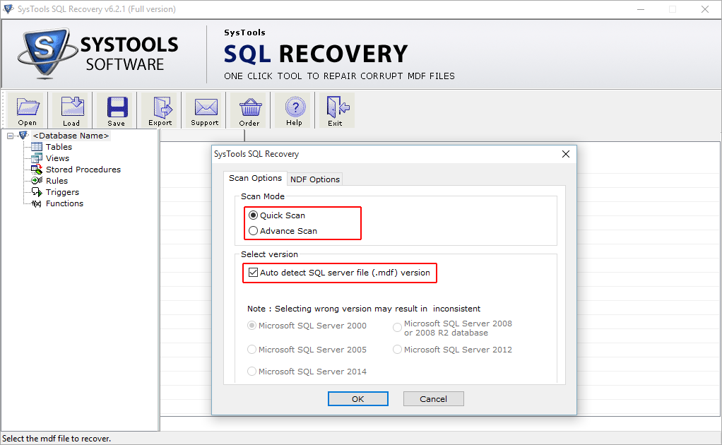 Autodetect SQL Version